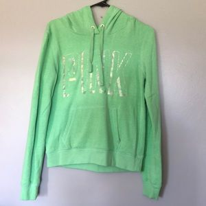 Green Hooded PINK sweatshirt